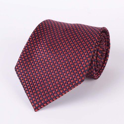 Red (diamonds) and navy blue tie