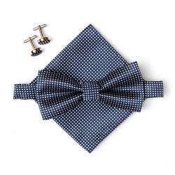 Bow tie set. bow tie, hankerchief and cufflinks