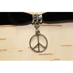 Velvet necklace (chocker) Peace