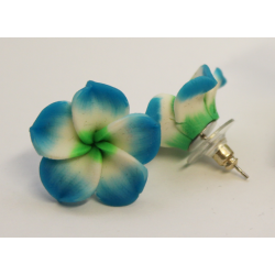 Earrings Flowers Blue