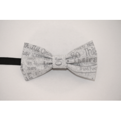 Bow tie Positive mind grey