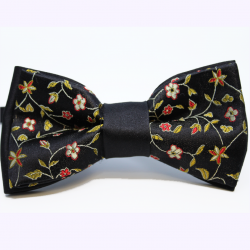 Bow tie Chic Flowers black