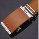 Ceinture ajustable en cuir brun grande taille