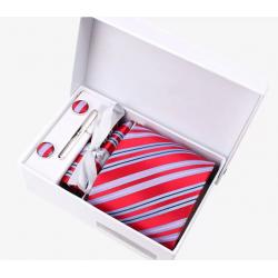 Gift box tie hanky cufflink clip set