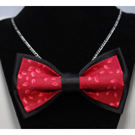 Necklace-Bow tie Chic Red