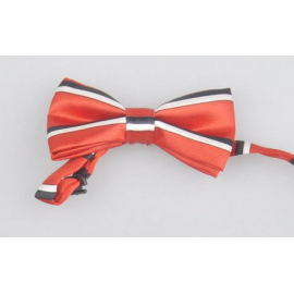 Bow tie for kids Red striped black and white
