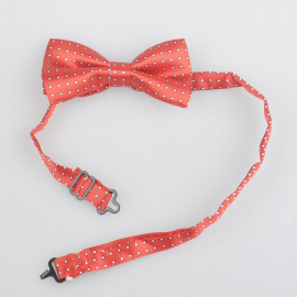 Bow tie for kids Red with white dots