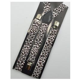 Adjustable lastic suspenders leopard pattern