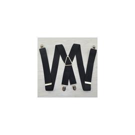 Adjustable elastic suspenders Black plus size