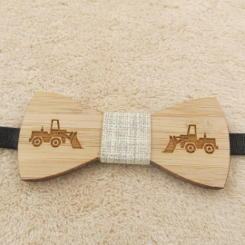 Wood bow tie for kids Bamboo