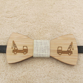 Wood bow tie for kids Construction pattern