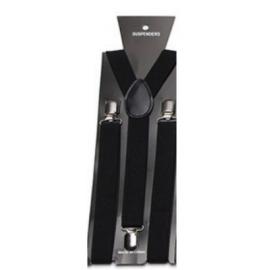 Adjustable elastic suspenders Black