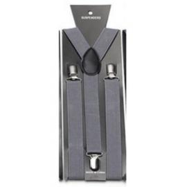 Adjustable elastic suspenders Grey