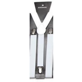 Adjustable elastic suspenders White