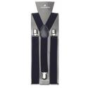 Adjustable elastic suspenders Navy blue