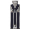 Adjustable elastic suspenders Navy blue