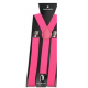 Adjustable elastic suspenders Candy pink