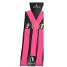 Adjustable elastic suspenders Candy pink