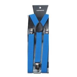 Adjustable elastic suspenders Blue