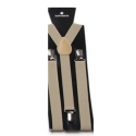 Adjustable elastic suspenders Khaki