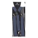 Adjustable elastic suspenders Dark grey