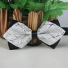 Bow tie Silver and black