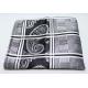 Mouchoir de poche HMT-06 Noir et argent Paisley