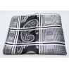 Handkerchief HMT-06 Black and silver paisley