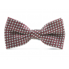 Bow tie for kids KBTMT-217 Bourgogne, noir et argent