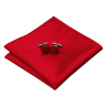 Handkerchief  HLV-206 Red Silk 100%