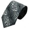 Cravate TLV-209 Gris motifs cachemire 100% soie