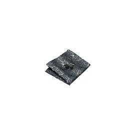 Mouchoir HLV-209 Gris motifs cachemire 100% soie