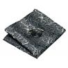 Boutons de manchettes CLV-209 Gris motifs cachemire 100% soie