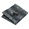 Cufflinks CLV-209 Grey paisley Silk 100%
