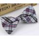 Bow tie for kids KBTMT-5 White blue brown