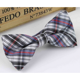 Bow tie for kids KBTMT-5 White blue brown