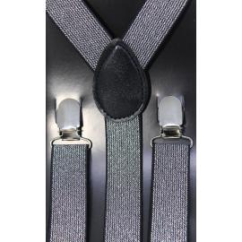 Adjustable elastic suspenders SFM-Arg Silver