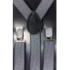 Adjustable elastic suspenders SFM-Arg Silver
