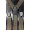 Adjustable elastic suspenders SFM-Or Gold