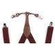 Bretelles élastiques Bourgogne et brun