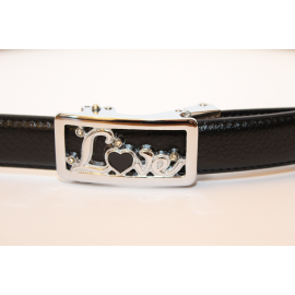 Adjustable belt black WBC-LOVE