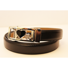 Adjustable belt black WBD-2coeurs