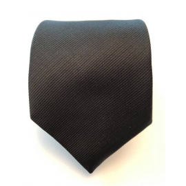 Cravate noire avec motif de rayures TYW-21B