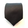 Cravate noire avec motif de rayures