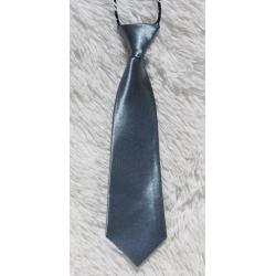 Kid tie dark grey