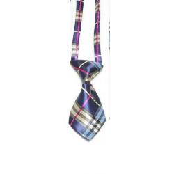 Cravate pour chiens et chats Tartan bleu multi