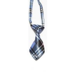 Cravate pour chiens et chats tartan bleu