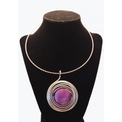 Necklace Purple spiral