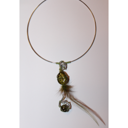 Round necklace jade pendant