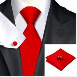 Tie hanky cufflink Set Silk 100%